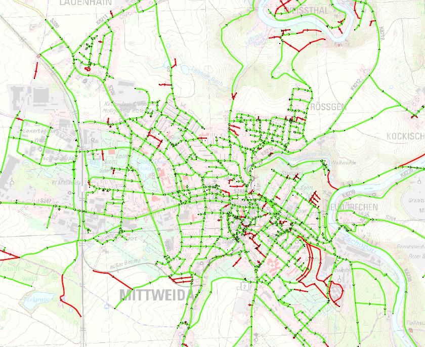 Öffentliche Straße / Private Straßen (Baulast Stadt)
