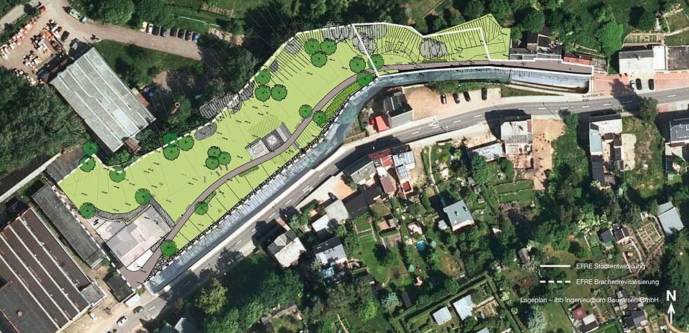 Entwurfsplanung Grünraumgestaltung Altmittweidaer Bach