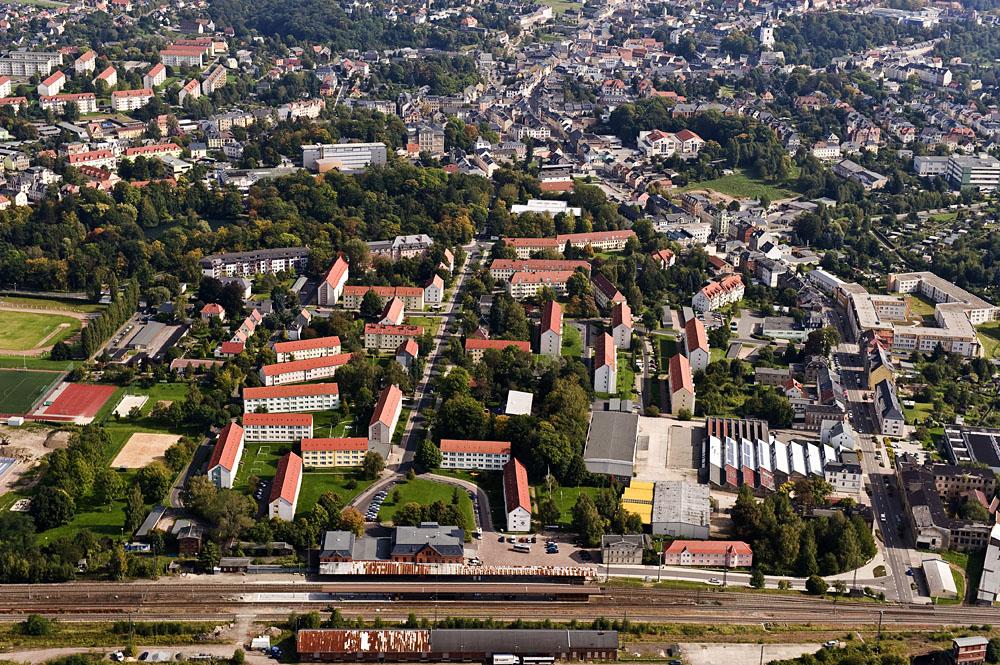Schrägluftbild: Bahnhofsvorstadt