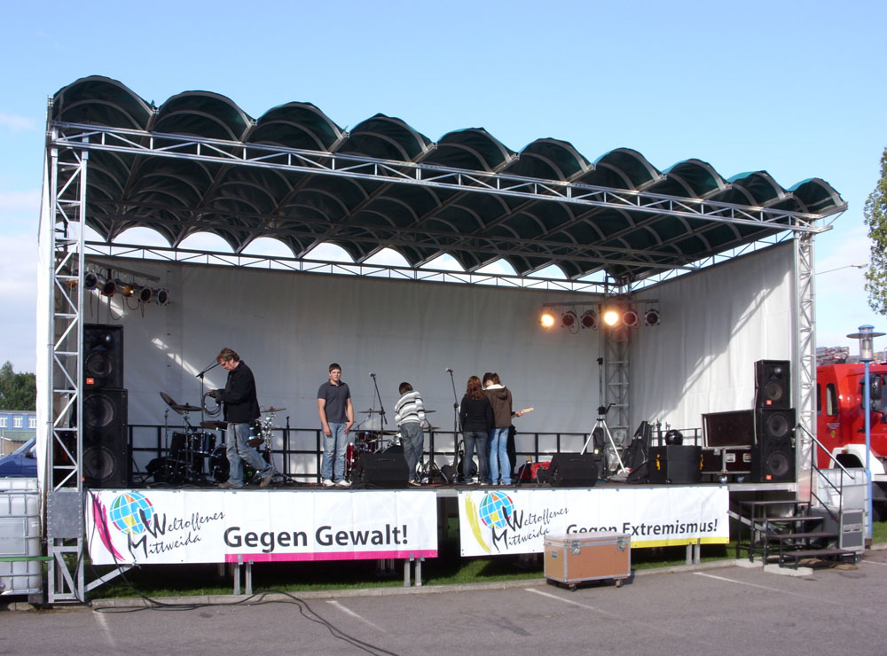 Mobile Bühne im Einsatz