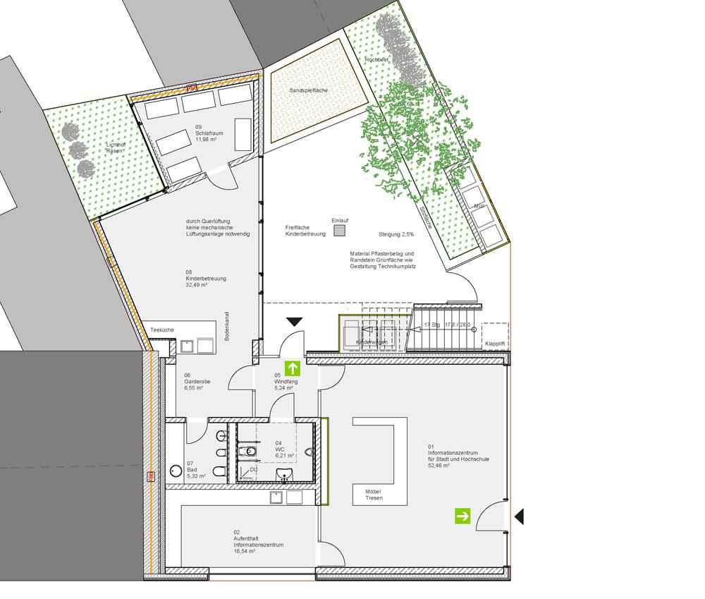 Entwurfsplanung Erdgeschoss