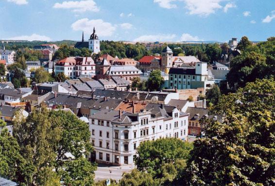 Blick von oben auf die Stadt Mittweida