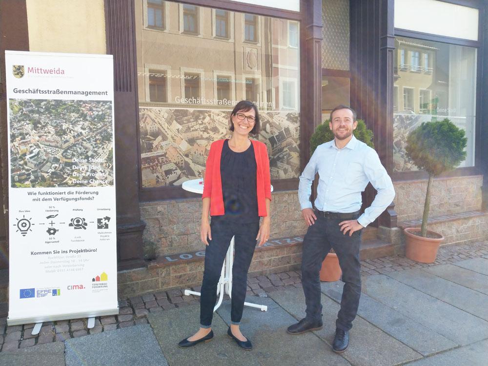 Fr. Torge und Hr. Giesler von der CIMA Beratung + Management GmbH