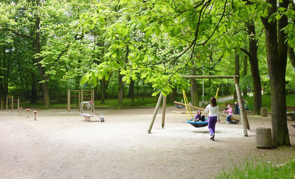 Zustand des Kinderspielplatzes vor der Umgestaltung