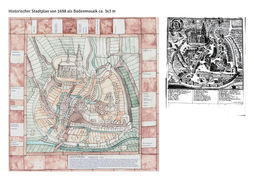 Künstlerische Ideenskizze zum Stadtplan von 1698