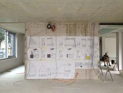 Rohbauarbeiten im Erdgeschoss