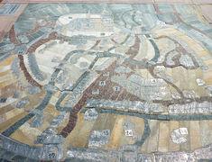 Umsetzung des historischen Stadtplans als Steinmosaik