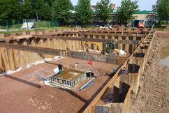 Verbau- und Gründungsarbeiten für die Pumpenstube