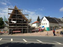 Fertigstellung des Dachstuhls