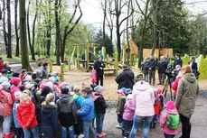 Einweihung der Spielplätze durch Oberbürgermeister Ralf Schreiber