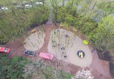 Blick auf den Jugendspielplatz von oben
