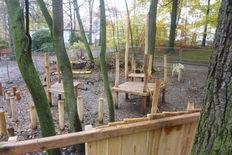 Baustelle am Kinderspielplatz